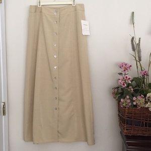 NWT...Emma James khaki maxi skirt